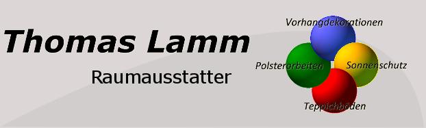 Raumausstatter handwerk logo  Raumausstatter Lamm